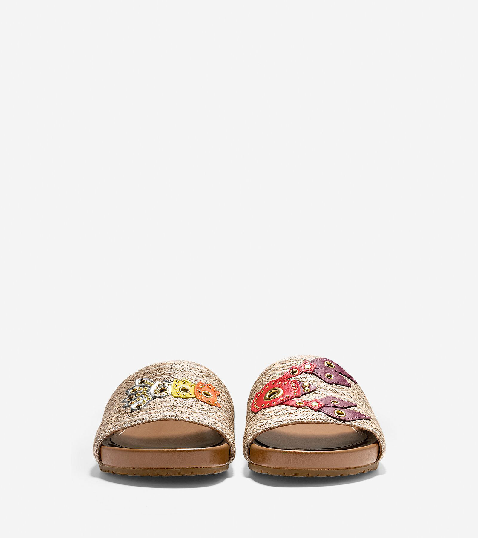 Cole Haan Grand.OS Pinch Montauk Lobster Straw Slide Sandals I0d3o