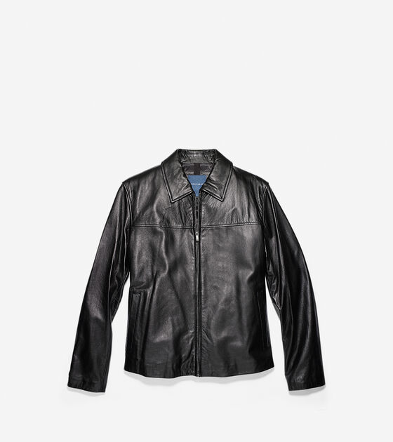 Outerwear > Smooth Lamb Zip Jacket