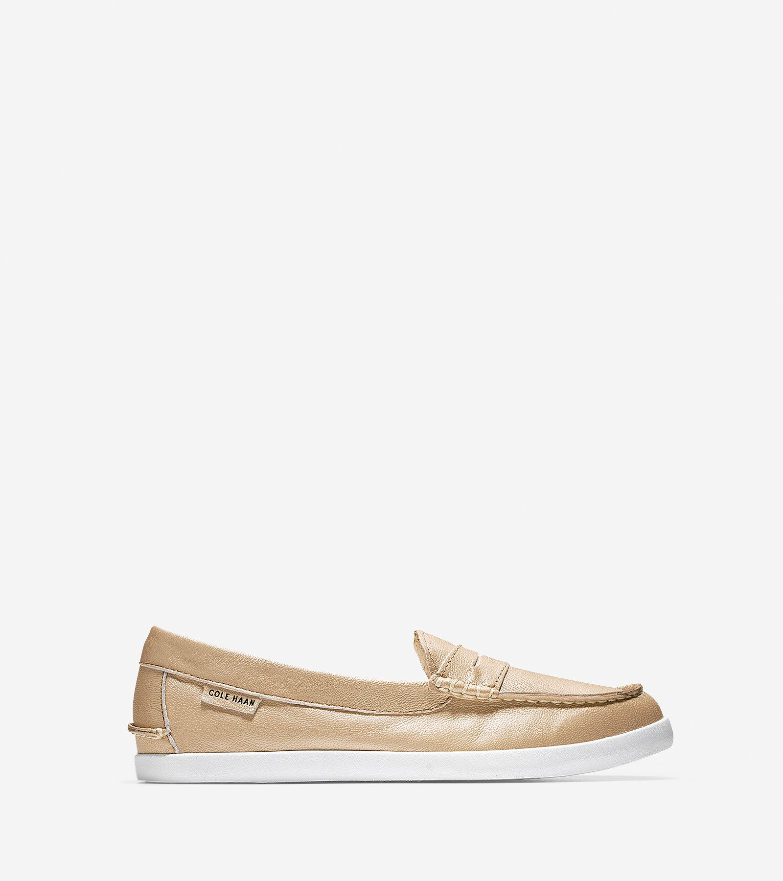 Womens Shoes Cole Haan Nantucket Loafer Soft Gold Metallic