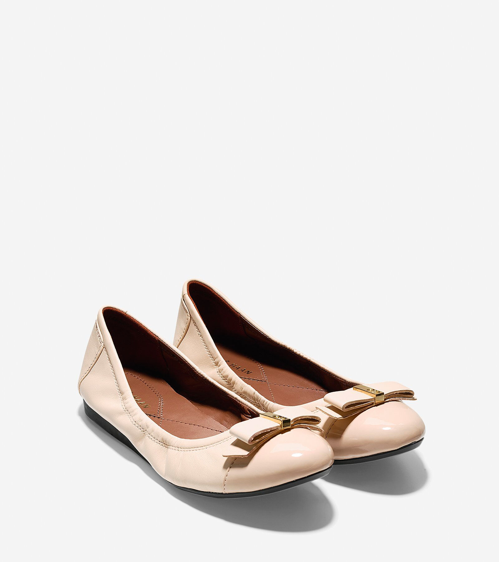 Cole Haan Patent Bow Flats