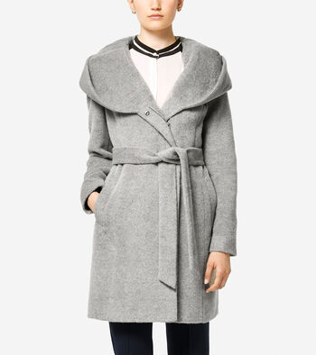Italian Alpaca Asymmetric Wool Coat