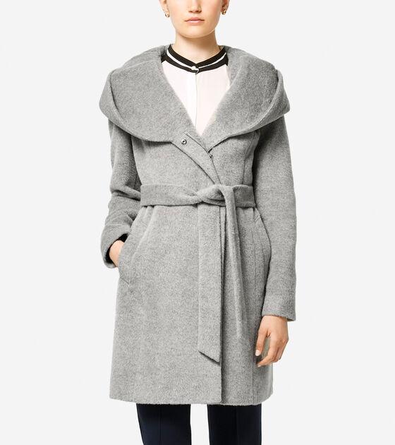 Classics > Italian Alpaca Asymmetric Wool Coat
