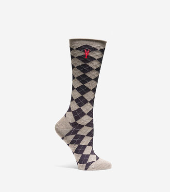 Pinch Argyle Crew Socks