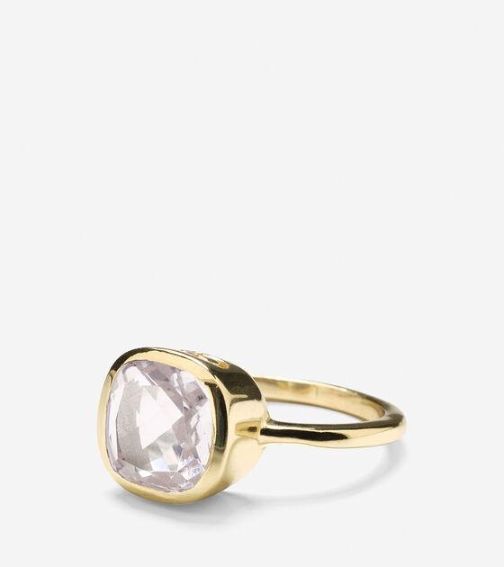 Accessories > Cushion Cut Semi-Precious Ring