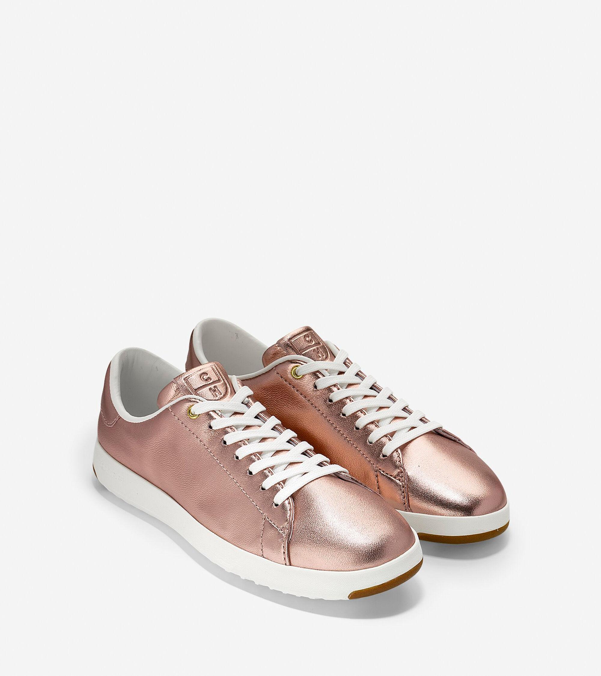 women 39 s grandpro tennis sneakers in metallic rose gold. Black Bedroom Furniture Sets. Home Design Ideas