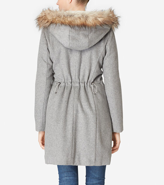 Striccato Wool Hooded Parka