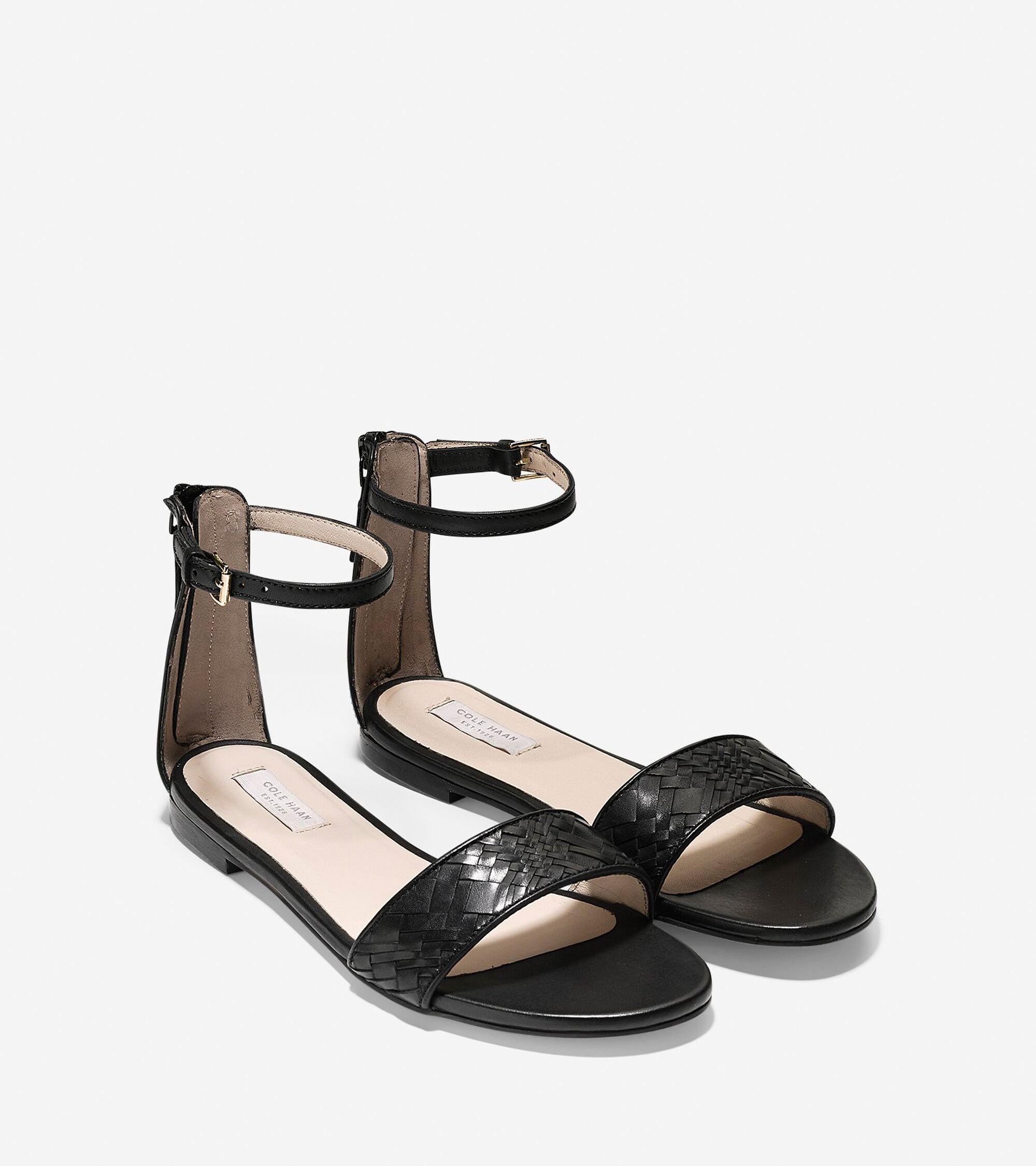 Flat sandals -  Genevieve Weave Flat Sandal