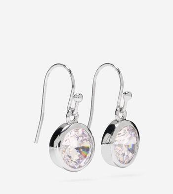 CZ Single Drop Earrings
