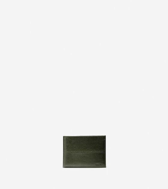 Accessories > Pebbled Leather Removable Passcase Wallet