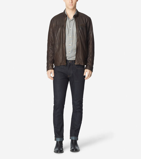 Outerwear > Vintage Lamb Moto Jacket