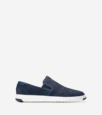 Women's GrandPrø Paisley Perforated Slip On Sneaker