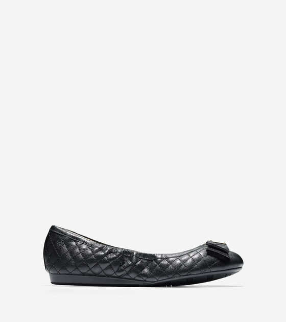 Ballet Flats > Tali Bow Quilted Ballet