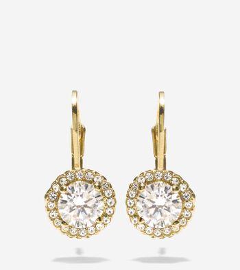 CZ Lever Earrings