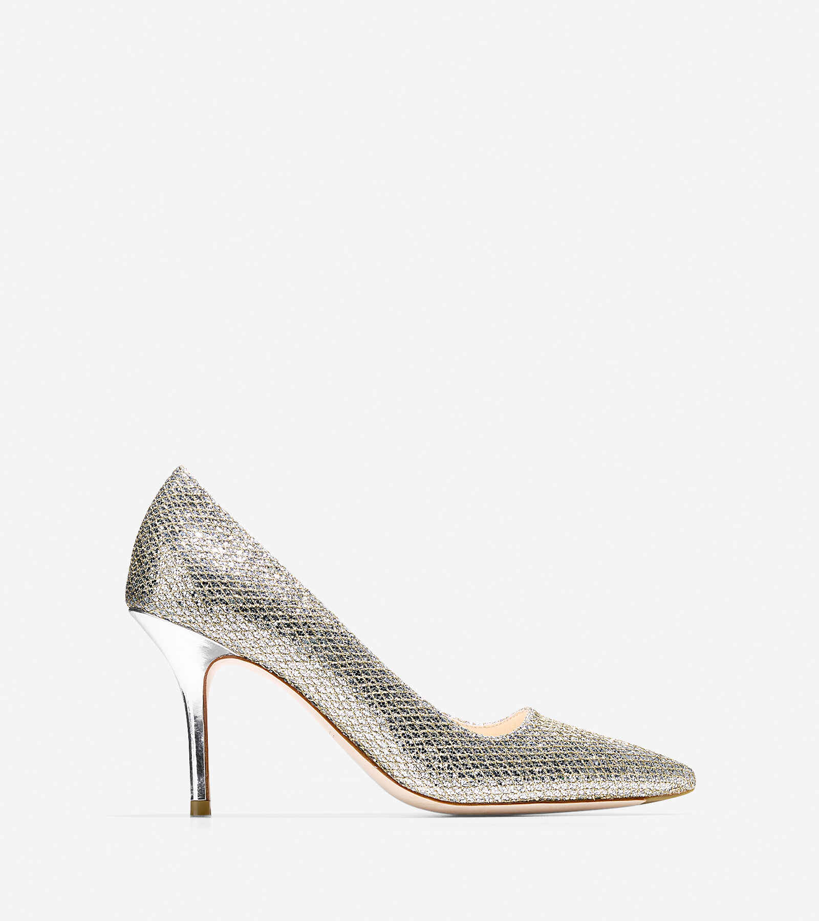 Womens Shoes Cole Haan Bradshaw Pump 85 Gold/Silver Glitter
