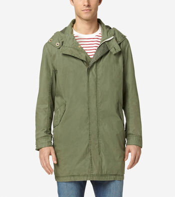 Pinch Washed Cotton Parka