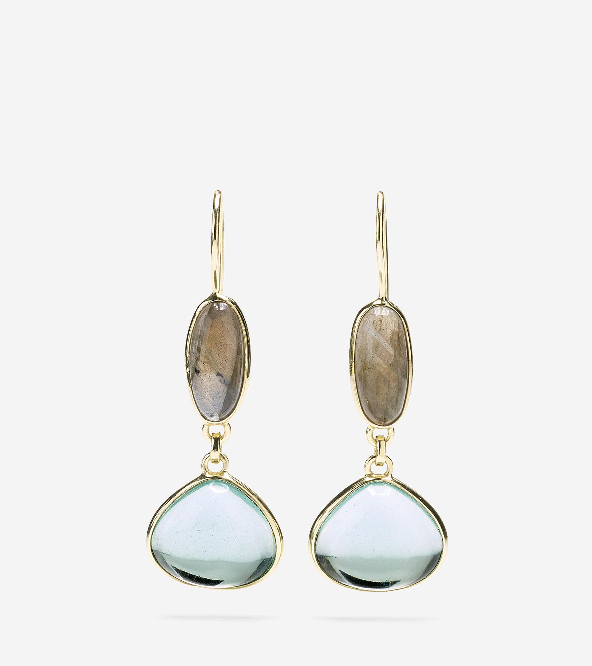 Accessories > Semi-Precious Doorknocker Earring