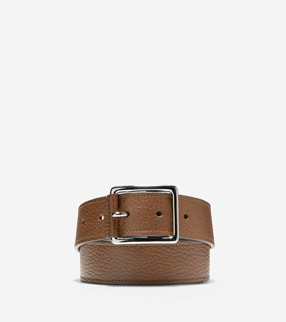 Accessories > 35mm Contrast Leather Belt