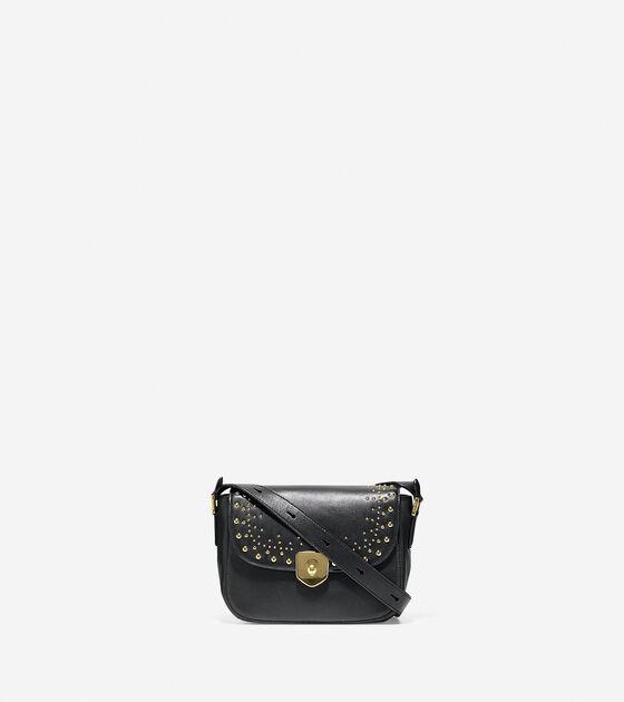 Bags & Outerwear > Marli Studded Mini Saddle Bag
