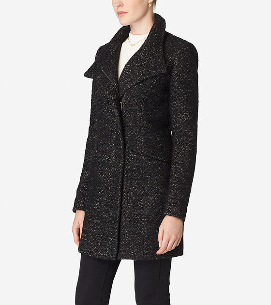 Italian Wool Stand Collar Coat