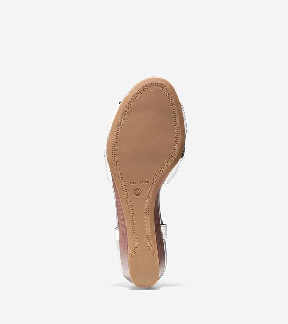 Elsie Criss Cross Wedge Sandal (40mm)