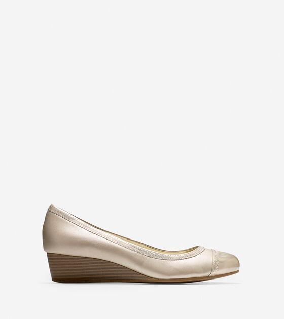 Ballet Flats & Wedges > Elsie Cap Toe Wedge (40mm)
