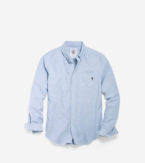 Apparel > Men's Pinch Long Sleeve Chambray Pocket Shirt