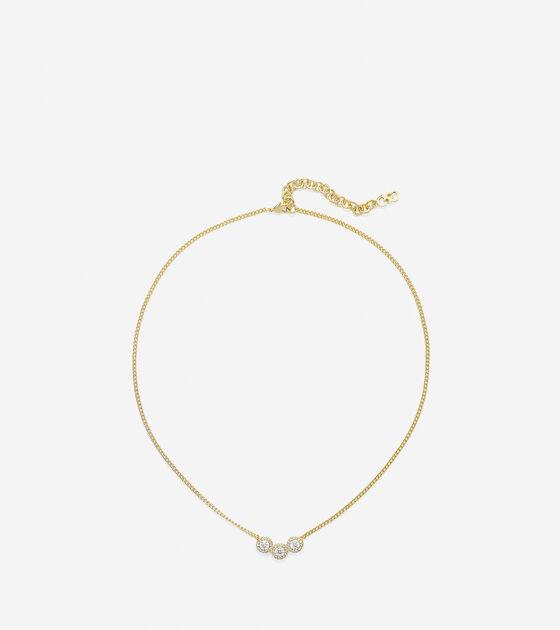 3 Stone CZ Necklace