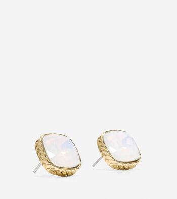 All A Fray Sand Opal Stud Earring
