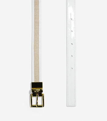 Canvas-Leather Trim Belt