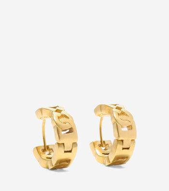 Tali Logo Link Huggie Earrings