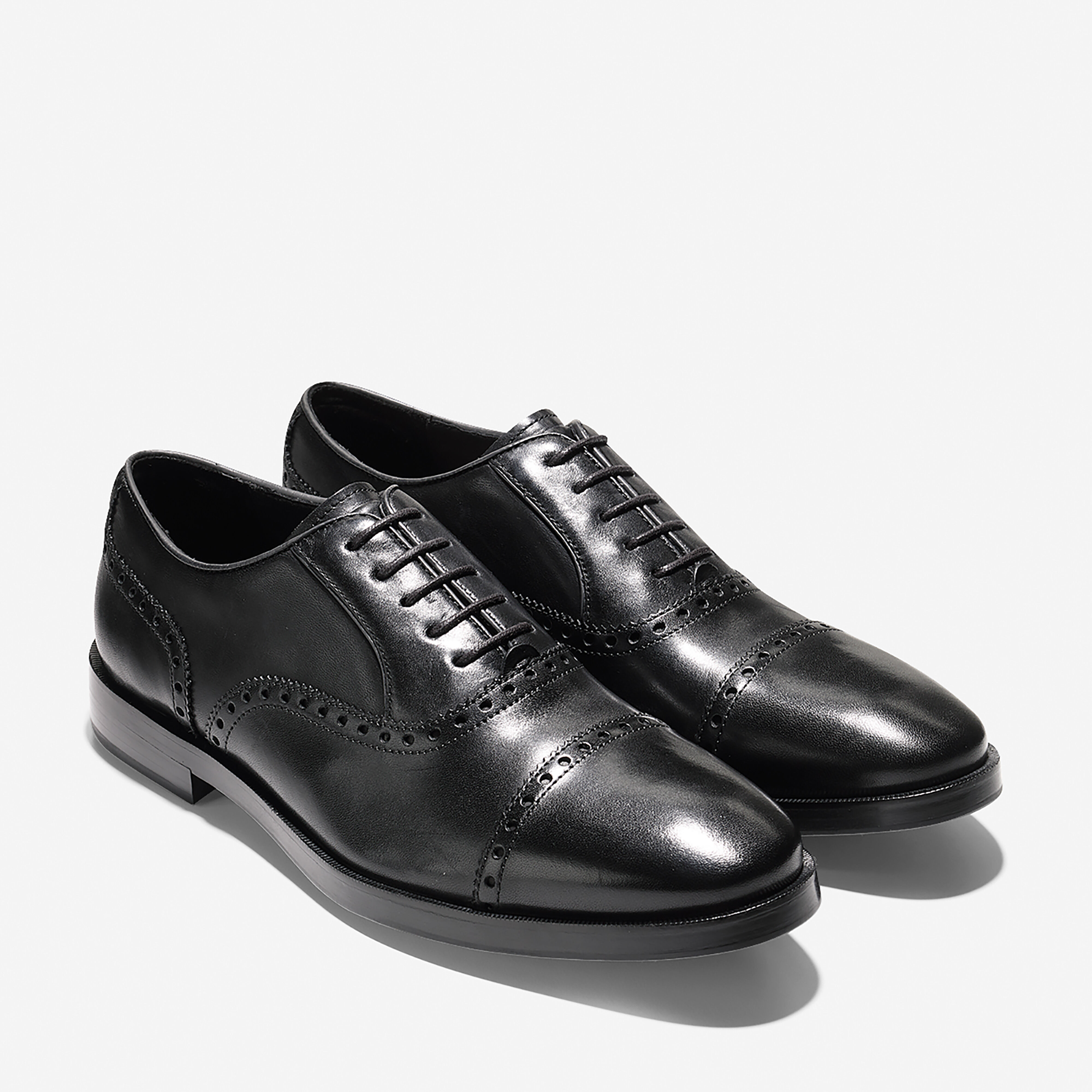 Cole Haan Mens Oxfords Shoes Leather Air Cap Toe Career Dress Casual 11 Black