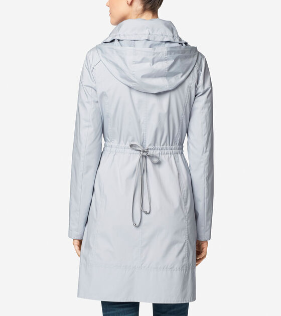 Single Breasted Packable Rain Jacket