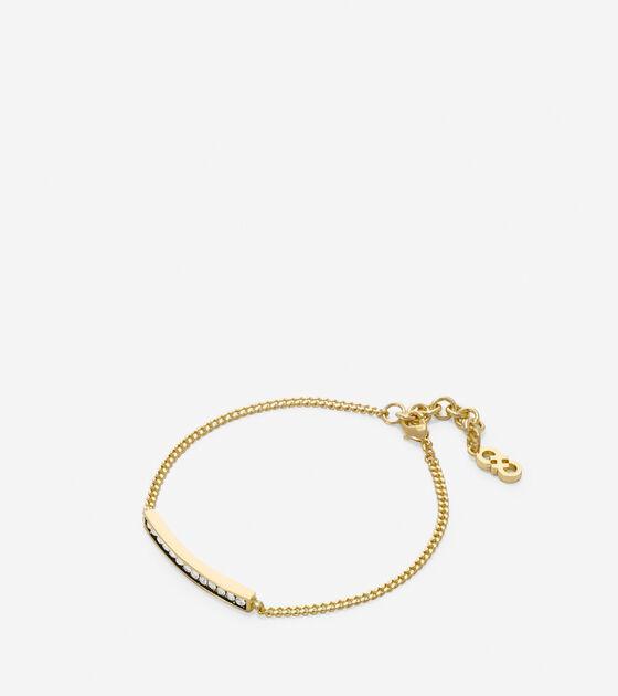 Jewelry > Rounded Pave Swarovski Bar Bracelet