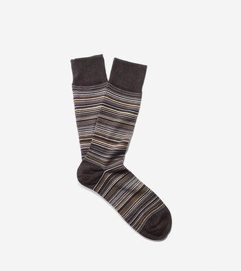 Multi Stripe Crew Sock