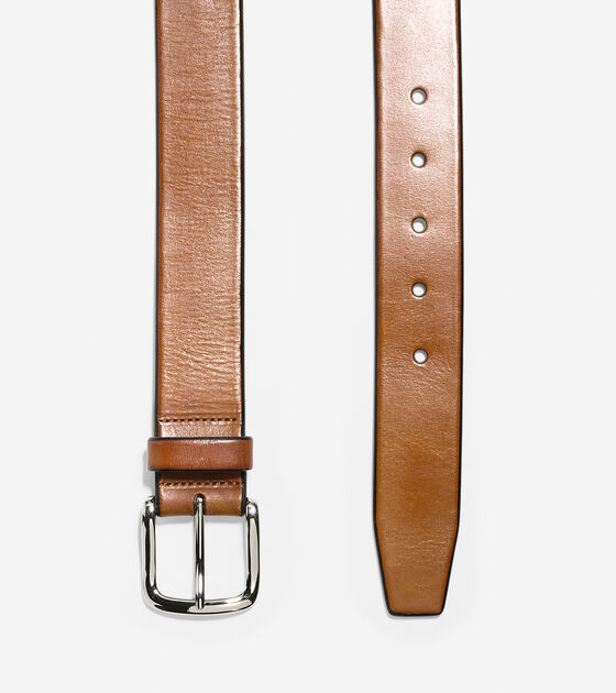 35mm Smooth Leather Belt
