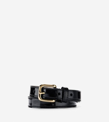 Thin Patent Leather Belt