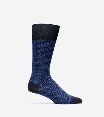 Dog Bone Texture Crew Sock