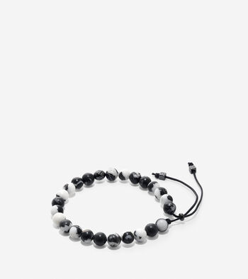 Semi-Precious Beaded Pull Tie Bracelet