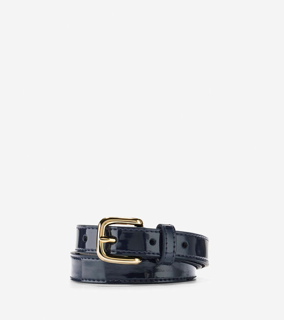 Accessories > Thin Patent Leather Belt