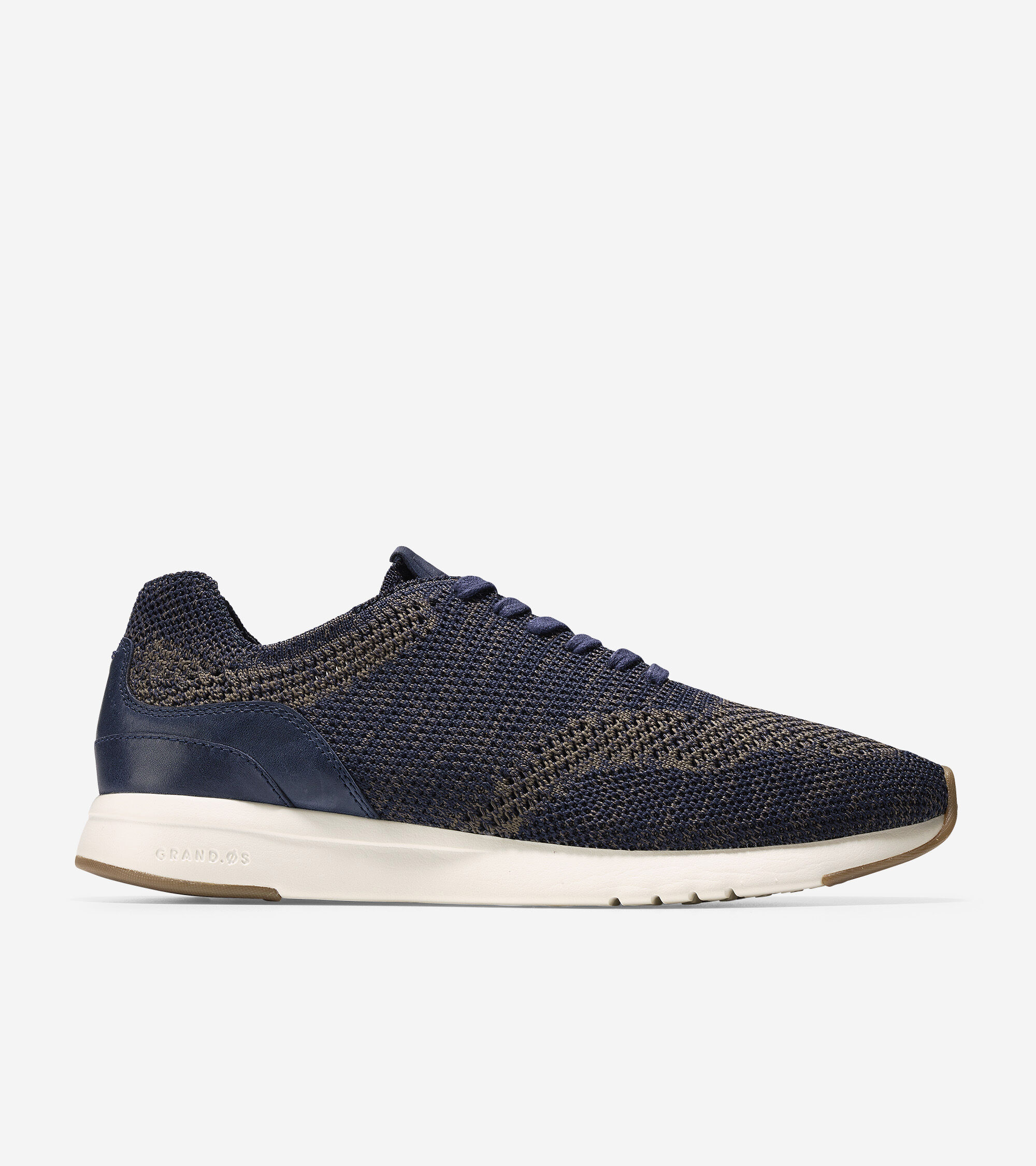 Mens Grandpro Runner Stitchlite Sneaker, Navy Peony/Morel, 10 M US Cole Haan