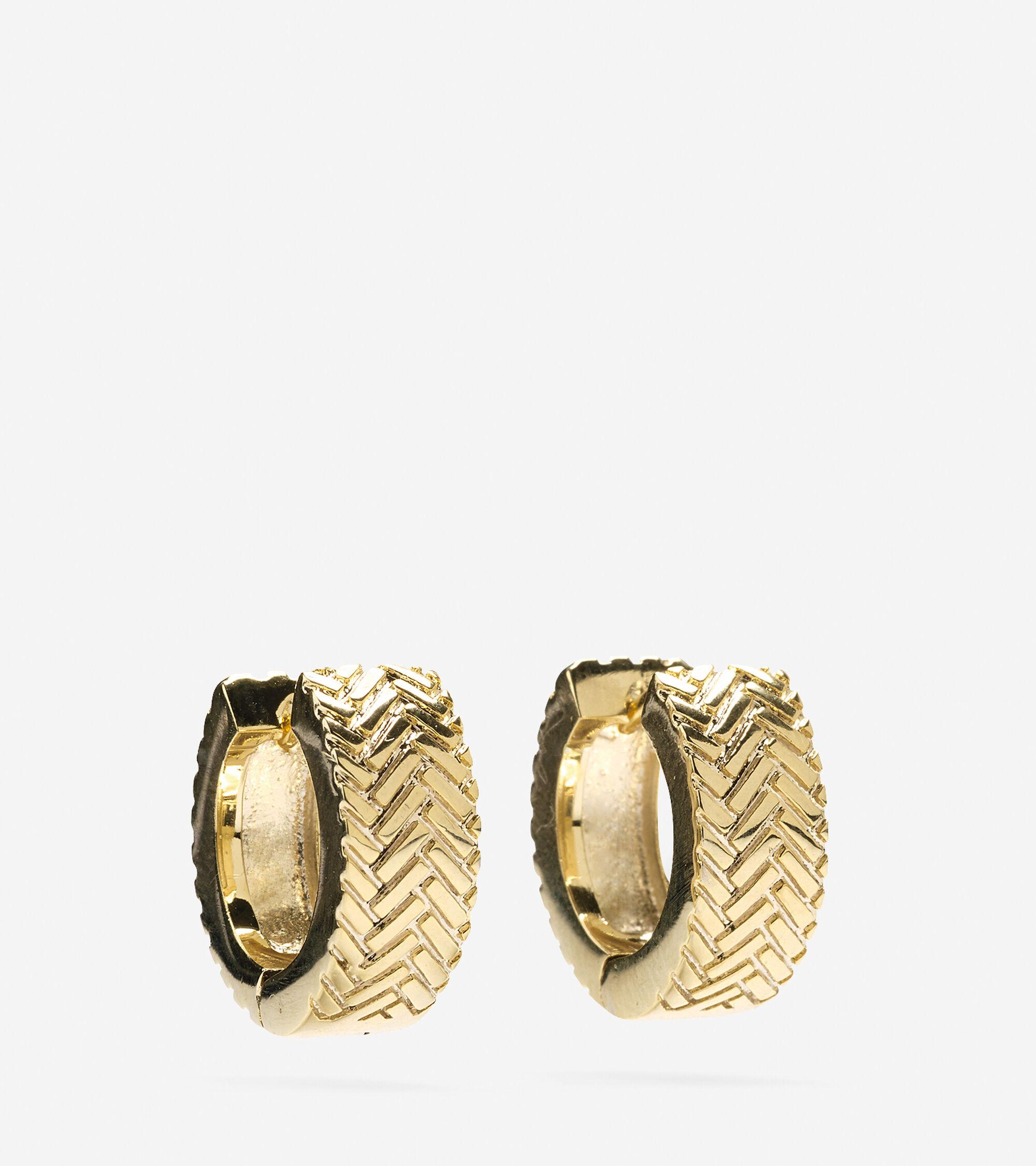 Accessories > Basket Weave Huggy Earring