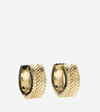 Basket Weave Huggy Earrings
