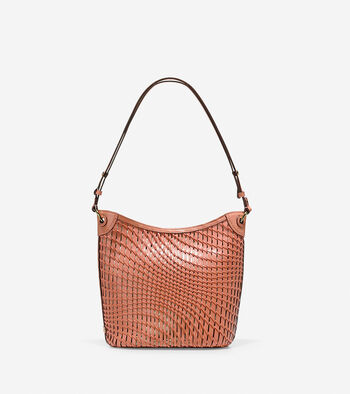 Genevieve Open Weave Bucket Hobo