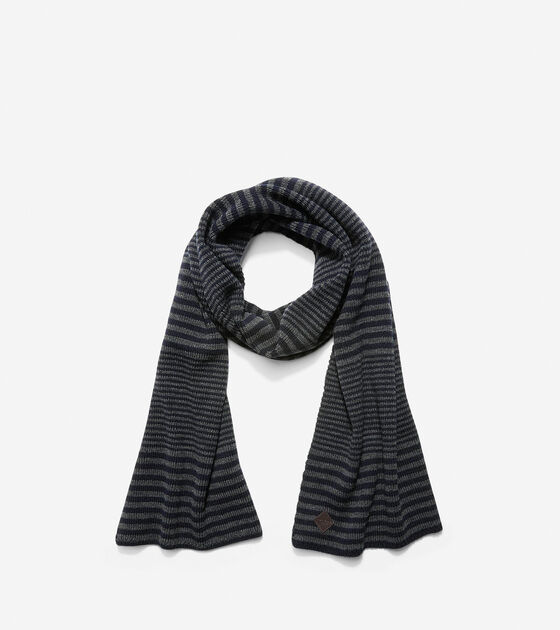 Hats, Gloves & Scarves > Double Stripe Muffler Scarf