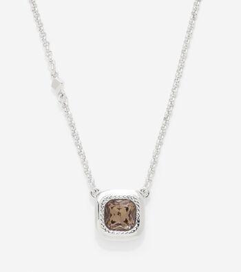 Cushion Cut Swarovski Pendant Necklace