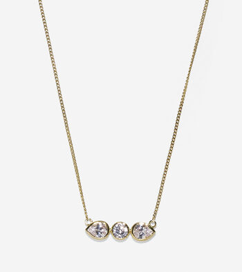 Starry Skies Cubic Zirconia Bar Necklace