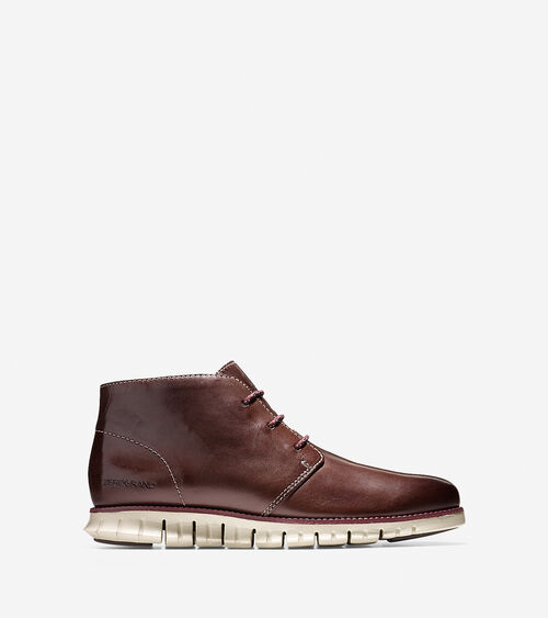 Zerogrand Chukkas In Chestnut Mens Shoes Cole Haan