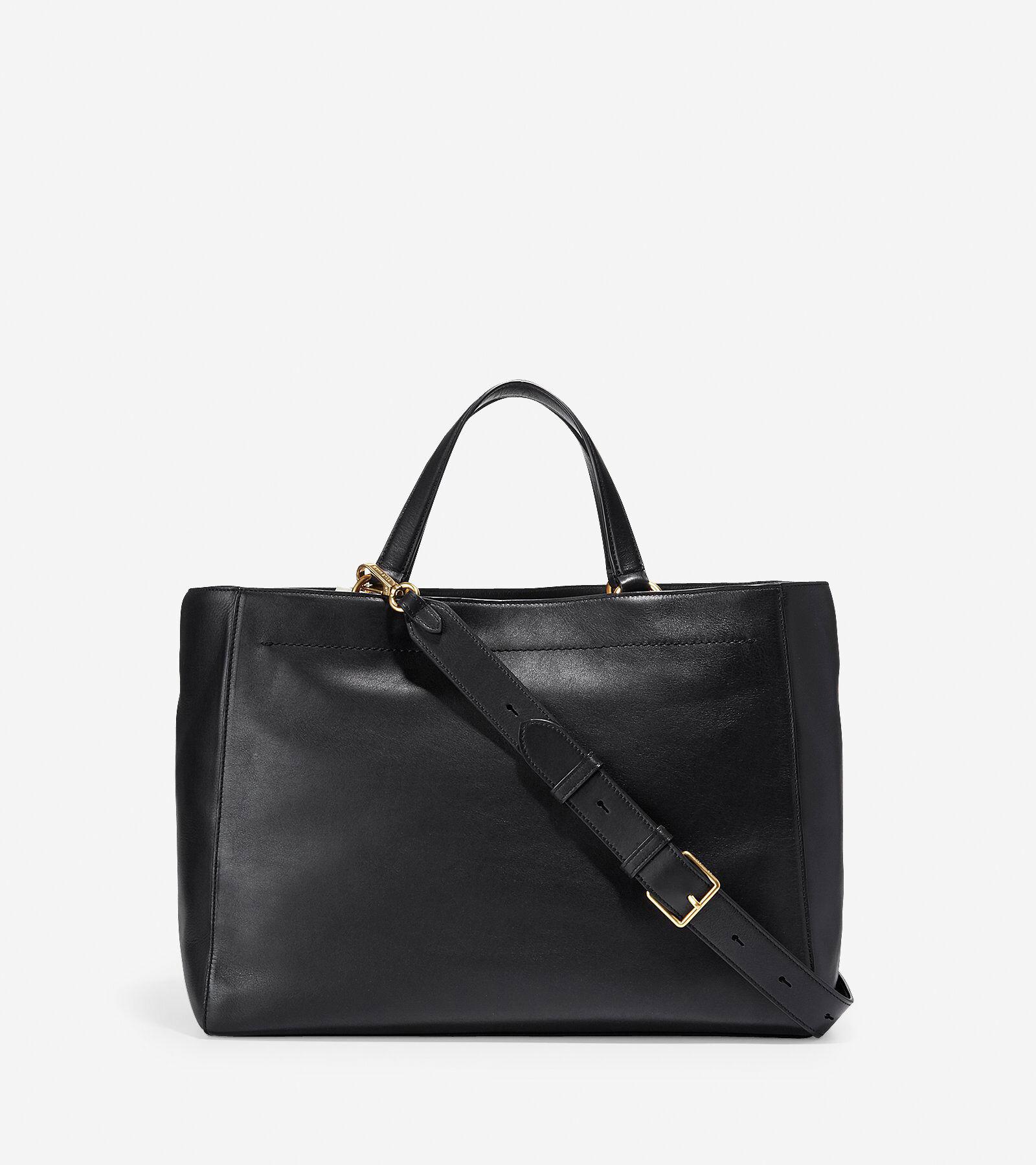 Cole Haan Zoe Work Tote (Black) Tote Handbags mhF9fhOzTS