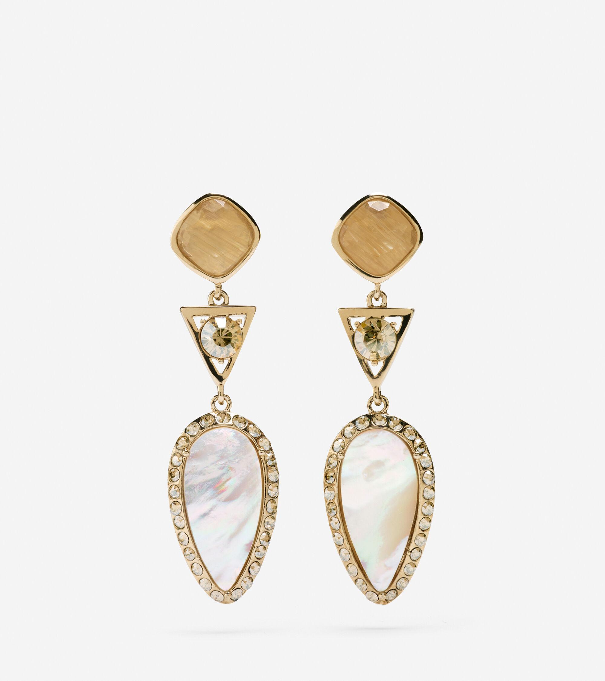 Jewelry > Triple Drop MOP Drama Earring