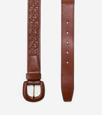 Genevieve Weave Leather Belt